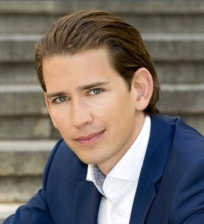 Sebastian Kurz, ministro de exteriores Austria, político de Junge ÖVP y candidato para canciller 2017 en Austria